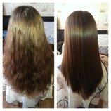 Кератиновое выравнивание волос. Самые низкие цены.