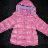 E-vie angel р. 104 на 3-4 года Куртка теплая красивая