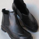 Timberland женские черные ботинки натуральная кожа осень весна