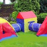 Детские игровые палатки, домики 5 in 1, с тоннелем, вигвам