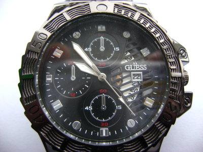 Мужские наручные Часы Guess с датой на силиконовом ремешке