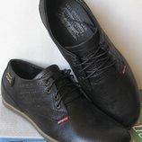 Levis стильные мужские классические туфли ботинки натуральна кожа