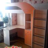 Кровать-Чердак с рабочей зоной и угловым шкафом к28 Merabel