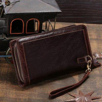 Мужской клатч кошелек барсетка Leader 100% кожа