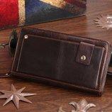 Барсетка клатч мужской кошелек портмоне Boss 100% кожа