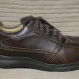 Добротные кожаные полуботинки в спортивном стиле Skechers. Сша. 46 р.