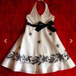Красивое летнее платье Girl2Girl на 2-3-4 года. Англия. Нарядное платье. Белый сарафан.