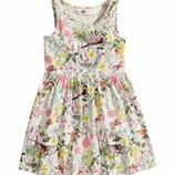Летнее трикотажное платье H&M для девочки 1,5-2 лет