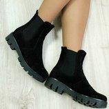 Ботинки с резинками в стиле Chelsea.Осень-зима.Хит.Фото на ножке