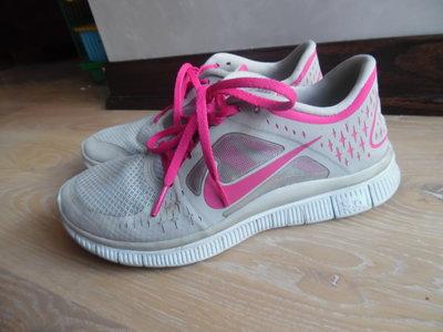 Кроссовки оригинал ортопеды 38 рр Nike найк серые розовые женские сетка 0b6df05282455