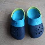 Крокс обувь для пляжа 17,5 см бассейна на море Crocs крокс резиновые синие голубые оригинал