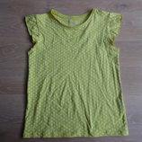 Майка футболка горошек зеленая 11 лет 146 см TU ТиЮ новая
