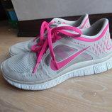 Кроссовки оригинал ортопеды 38 рр Nike найк серые розовые женские сетка