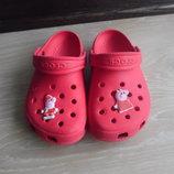 Крокс оригинал 17,5 см красные девочке италия Crocs крокс