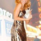 Вечернее серебристое платье Серебряная змея