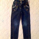 Джинсы скинни Next 3-4 года. Красивые скинни штаны для девочки.
