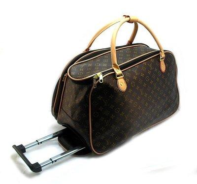 62d53cc954ca Чемодан сумка дорожная на колесах PU коричневая Louis Vuitton  1720 ...