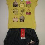 Шикарные летние комплекты для девочек 92, 104 см