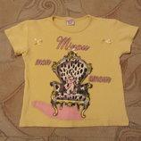Классная летняя футболка на девочку 4 - 5 лет. в наличии.