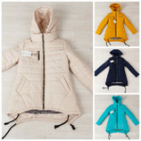 Модная куртка-парка для девочки, 36,38,40,42,44 размер на рост 140,146,152.158,164 см, 6 цветов