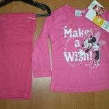 Детская пижама для девочки Minnie mouse дисней, 3-8лет