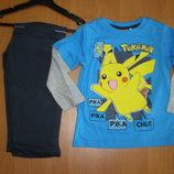 Детская пижама для мальчиков Покемоны, Тм Sun City франция , 3-8лет