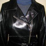 Кожаное пальто новое