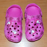 Гламурные кроксы для девочки, размер 7 16 см