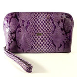Косметичка кожаная женская клатч фиолетовая Desisan 064-15