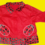 1600 вещей на 1-15 лет,Плащик-Курточка с божьими коровками,Mothercare,рост 80 см