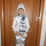 Карнавальный новогодний костюм Снеговик на возраст 3-8 лет прокат