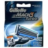 Gillette Mach 3 Turbo 4 шт. только высокое качество