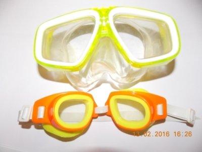 Маска детская и очки.