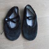 Балетки обувь для танцев 17,5 см черные