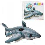 Плотик - игрушка для плавания «большая белая акула». 57525