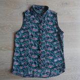 Блузка девочке 13 лет детская цветочный принт модная оригинал New Look Нью Лук