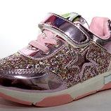 Кроссовки розовые гламурные для девочек 26 - 30