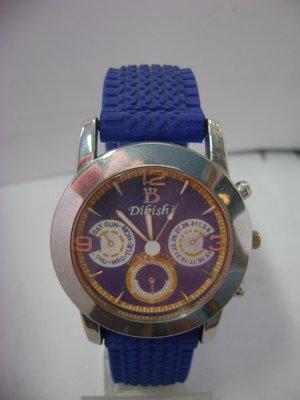 Мужские наручные часы на силиконовом ремешке