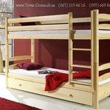 Детская деревянная кровать-трансформер Lac