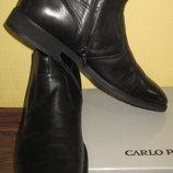 кожаные ботинки Carlo Pazolini на натуральной овчине раз 45 по стельке 30см