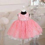 Платье нарядное для самых маленьких 70-90 см