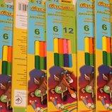 Карандаши цветные двусторонние Marco пегашка 6 шт. 12 цветов