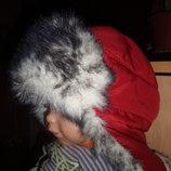 шапка ушанка до 3 лет