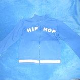 Кофта синего цвета на молнии на возраст 8-9 лет