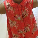 легкая летняя блузочка-рубашечка на девочку 6 -7 лет 100% вискоза
