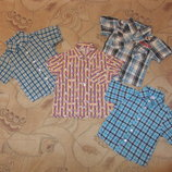 Летние рубашечки на мальчика от 1 до 5 лет. Дешево. В наличии.
