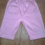 Розовые штаники - капри на малышку