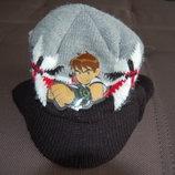 шапка теплая c ушами и козырьком Ben Ten