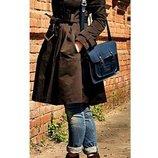 пальто плащ Zara, 12-14 р-р, шоколадного цвета