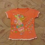 Летняя футболочка на девочку 3 - 4 года. В наличии.